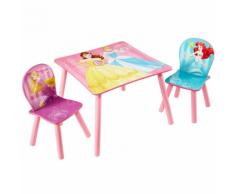 Disney Table et chaise 3 pièces Princesse 45x63x63cm Rose WORL660020