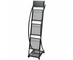 vidaXL Porte-revue 40 x 32 131 cm Noir A4