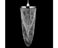 vidaXL Lustre suspendu en cristal 22 x 58 cm
