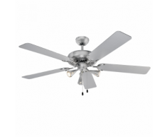 AEG Ventilateur de plafond avec lumière D-VL 5667 132 cm 210 W Argenté