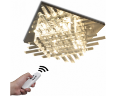 vidaXL Plafonnier Carré RGB LED avec Bande en Verre