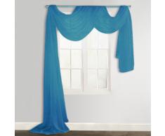vidaXL Voilage drapé turquoise 140 x 600 cm