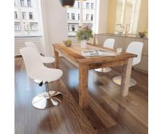 vidaXL Chaise de salle à manger 4 pcs Réglable Blanc