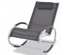 vidaXL Chaise à bascule de jardin Aluminium et Textilène
