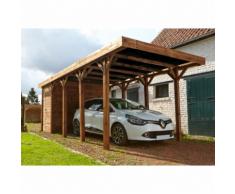 Not specified MADEIRA - Carport 1 voiture bois traité autoclave Harry