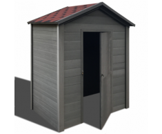 vidaXL Abri de stockage jardin WPC 188 x 264 cm gris