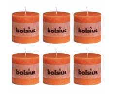 Bolsius bougie cylindre 6 pièces 100 x mm en orange