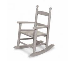 CHILDWOOD Chaise à bascule pour enfants Gris RCKSG2