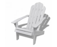 vidaXL Chaise de salon jardin en bois blanche chaise relaxation