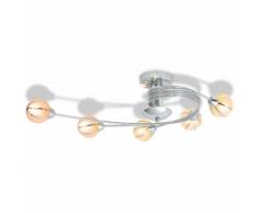 vidaXL Plafonnier avec 5 ampoules LED G9 200 W