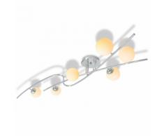 vidaXL Plafonnier avec 6 ampoules LED G9 240 W
