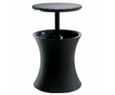 Keter Glacière table de bar en polyrotin anthracite 17194548