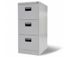 vidaXL Armoire de bureau en métal à 3 tiroirs Gris