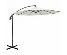 vidaXL parapluie en porte-à-faux sable blanc 3 m