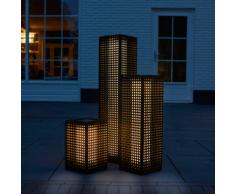 """Luxform Lampe de sol à LED solaire """"Martinique"""" Noir 69 cm"""