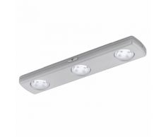 EGLO Réglette à piles 12 LED argentée Baliola 94685