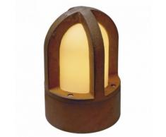 SLV - Borne lumineuse rouille Rusty Cone IP54 H24 cm