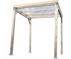 Habrita HABRITA - Carport en bois autoclavé toit plat couvert