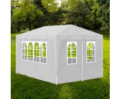 vidaXL Tonnelle de jardin/Tente réception Chapiteau Blanc 3x4m