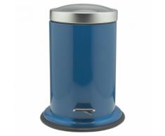 Sealskin Poubelle à pédale bleue Acero 3 L 361732424