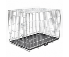 vidaXL Cage en métal pliable pour chien XL