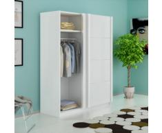 vidaXL Armoire avec 2 portes coulissantes Blanc mat 150 cm