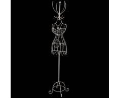 vidaXL Mannequin Buste en fer Robe avec patère