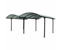 Habrita HABRITA - Carport ALUMINIUM double toit demi-rond