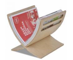 vidaXL Etagère à magazines en bois Naturel