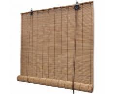 vidaXL Store enrouleur bambou brun 80 x 160 cm