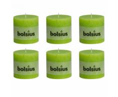 Bolsius bougie cylindre 6 pièces 100 x mm en vert