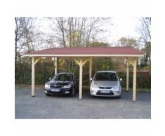 Habrita HABRITA - Carport double monopente avec couverture bardeau bitumé