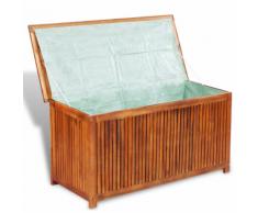 vidaXL Boîte de rangement pour terrasse en bois d'acacia