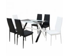 vidaXL Ensemble table et chaises de salle à manger 7 pcs Simili cuir