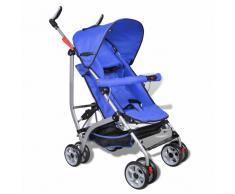 vidaXL Poussette pour bébé inclinable en 5 positions bleu