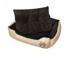 vidaXL Panier chaud pour chien avec coussin rembourré taille S