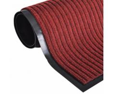 vidaXL Tapis d'entrée en PVC Rouge 90 x 150 cm