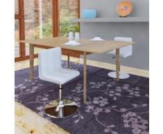 vidaXL Chaise de salle à manger 2 pcs Réglable Blanc