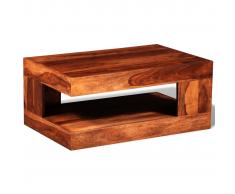 vidaXL Table basse en bois solide de sheesham