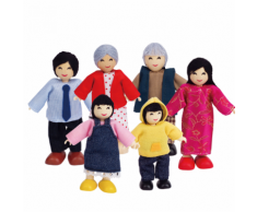 Hape Poupées famille heureuse asiatique E3502