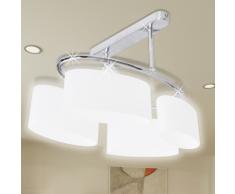 vidaXL Lustre/ Lampe de Plafond Contemporaine 4 Abats jours en verre
