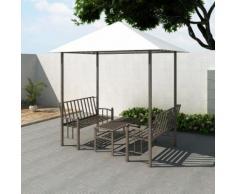 vidaXL Pavillon de jardin avec table et bancs 2,5 x 1,5 2,4 m