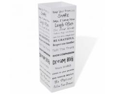vidaXL Blanc Carré Porte-parapluie Stockage pour cannes bâtons Acier 48,5 cm