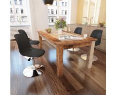 vidaXL Chaise de salle à manger 4 pcs Hauteur réglable Noir