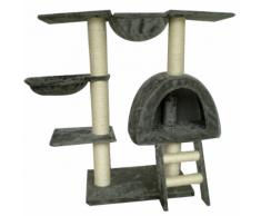 vidaXL Arbre à chat 105 cm en peluche grise