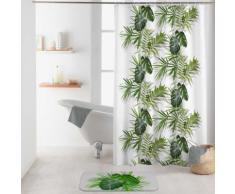 Rideau de douche motif feuilles