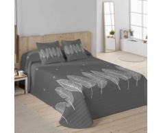 Couvre-lit matelassé imprimé feuilles