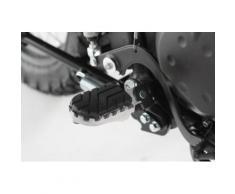 SW-Motech Kit de repose-pieds ION - Kawasaki KLR 650 (01-)., noir-argent
