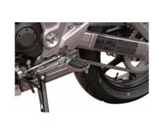 SW-Motech Kit de repose-pieds ION - Kawasaki Versys 650 / ZRX1200 / Z1000 / Z900RS., noir-argent