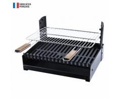 Somagic - Barbecue au charbon de bois réglable en 3 hauteurs GRILLOIR - grilloir à poser